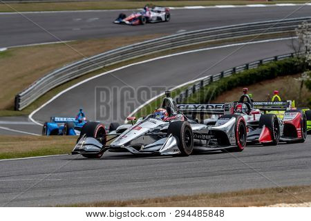 April 07, 2019 - Birmingham, Alabama, USA: SANTINO FERRUCCI (R) (19) of the United States races through the turns during the Honda Indy Grand Prix of Alabama at Barber Motorsports Park