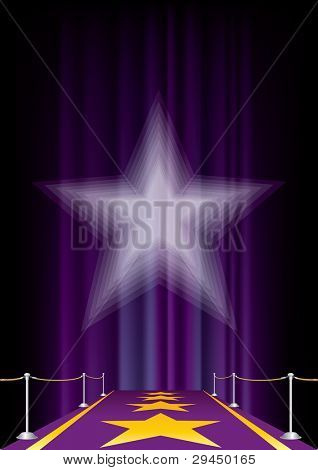 vector entertainment background with purple carpet