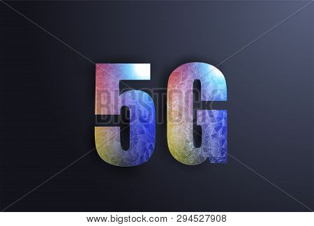5g Network Wireless Systems And Internet In Low Poly Style. 3d Internet For Site Design. Internet Te