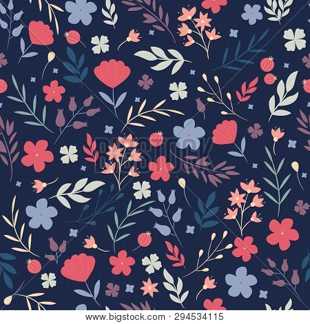 Floral Pattern Vector Photo Free Trial Bigstock