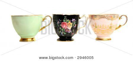 Antique Teacups Row