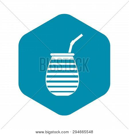Tea Cup Used Mate Or Terere In Argentina Icon. Simple Illustration Of Tea Cup Used Mate Or Terere In