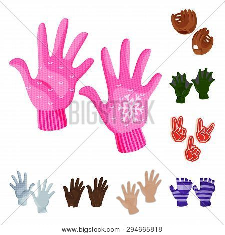 Vector illustration of accessory and style sign. Collection of accessory and distinctive stock vector illustration. poster