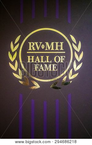 Carpet Formed Sticker Logo Of Rv/mh Hall Of Fame Museum