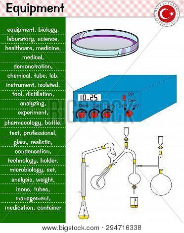 Laboratory Equipment, Lamella, Test Tubes, Ammeter, Made In Turkey