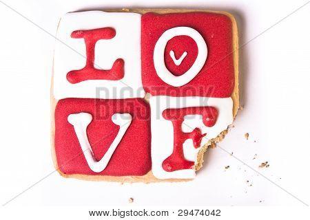 Bitten Valentine's Day Cookie