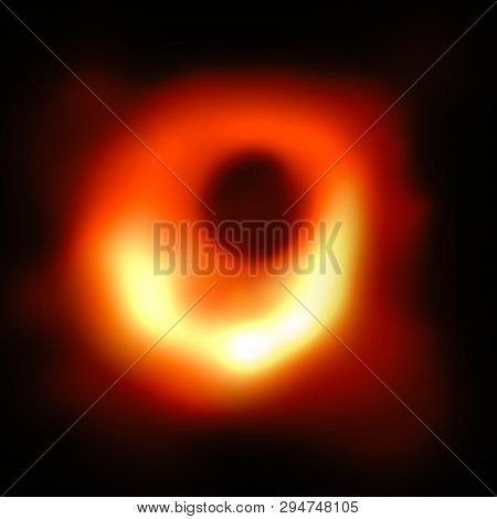 Illustration: Visual Representation Of First Picture Of A Black Hole, Revealed On 10th April 2019 By