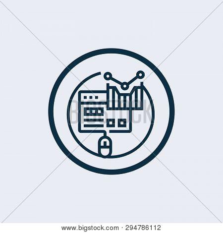 Webpage Blogging Line Icon Concept. Webpage Blogging Flat Vector Symbol, Sign, Outline Illustration.