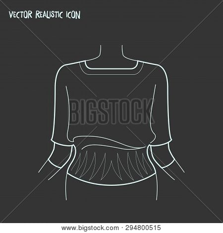 Knitwear Icon Line Element. Vector Illustration Of Knitwear Icon Line Isolated On Clean Background F