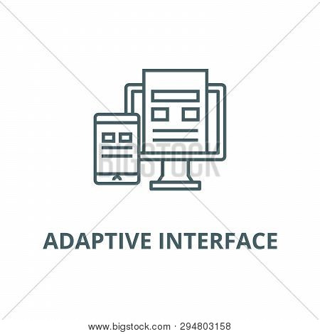 Adaptive Interface Line Icon, Vector. Adaptive Interface Outline Sign, Concept Symbol, Flat Illustra