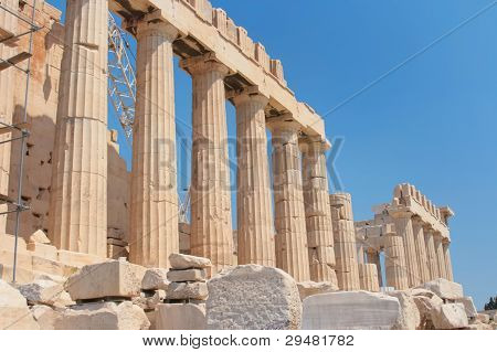 Famous ruins of Parthenon of Acropolis in Athens Greece poster