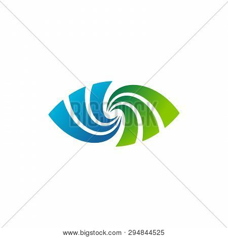 Abstract Spiral Eye Icon