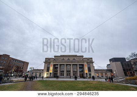 Montreal, Canada - November 9, 2018: Train Station Of Gare Park Avenue Jean Talon Train Station. It