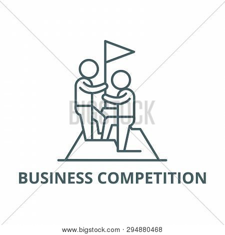 Business Competition Line Icon, Vector. Business Competition Outline Sign, Concept Symbol, Flat Illu
