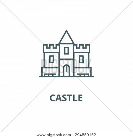 Castle Line Icon Vector Photo Free Trial Bigstock