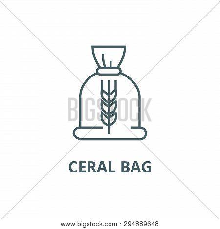 Ceral Bag Line Icon, Vector. Ceral Bag Outline Sign, Concept Symbol, Flat Illustration