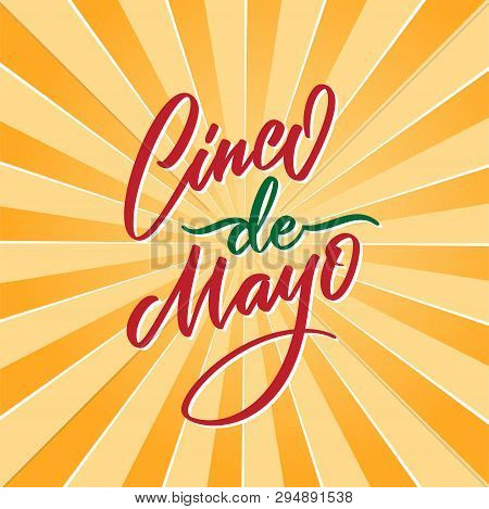 Cinco De Mayo Vector Illustration. 5 Of May Holiday Vector. Cinco De Mayo Holiday Banner. Mexican Ho