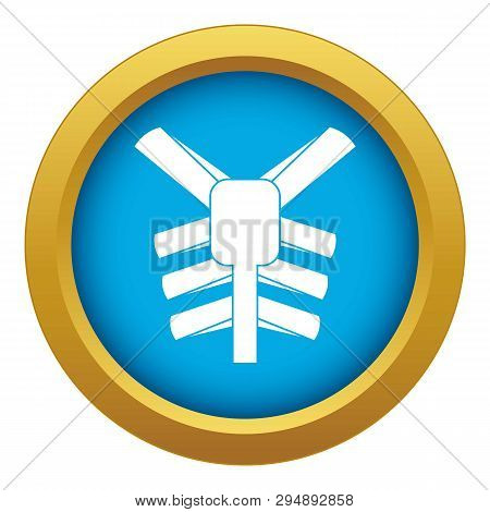 Human Thorax Icon Blue Vector Isolated On White Background For Any Design