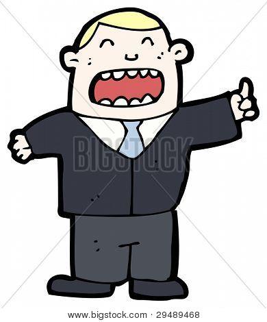 egotistical boss cartoon (raster version)