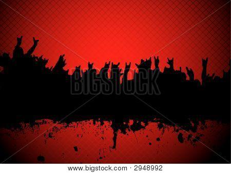 Concert Crowd Red