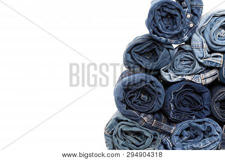 Blue Jean Background .blue Denim Jeans Texture. Jeans Background. Blue Torn Denim Jeans Texture.clas