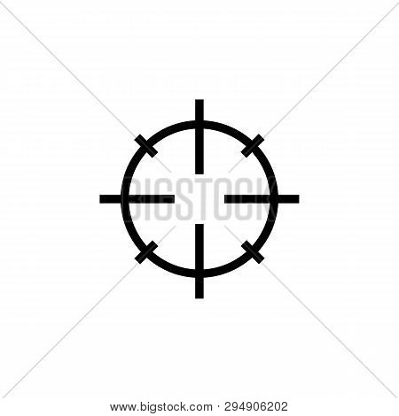 Sniper Scope Crosshairs Thin Icon Set. Isolated Rifle Gun Target.