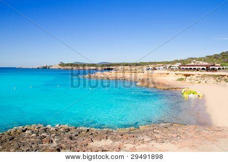 Ibiza cala Conta Conmte in San Antonio turquoise water