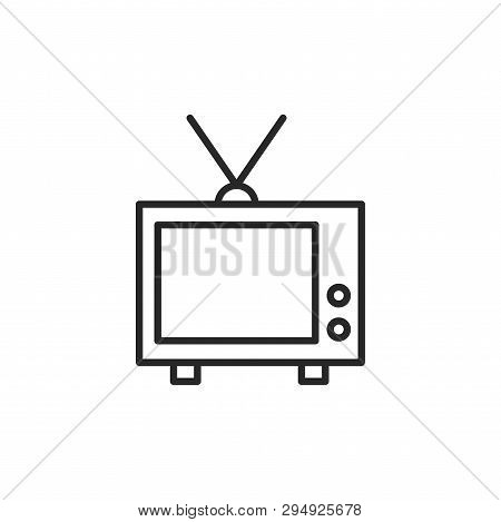 Television Icon Isolated On White Background. Television Icon In Trendy Design Style. Television Vec