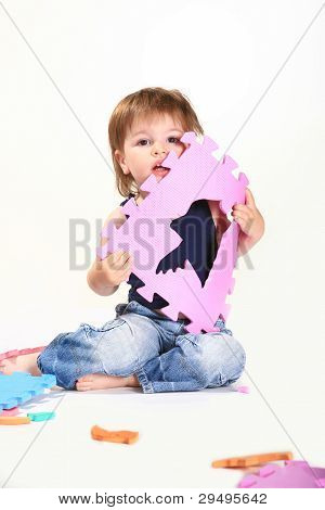 cute kid playing a game