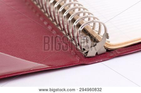 Old Binder Folder Isolated