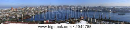 Vladivostok, Panarama Of Golden Horn Bay