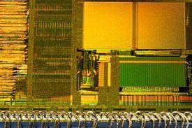 Silicon Crystal Chip Digital Processor Macro Shot