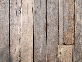 Empty Old Natural Brown Textured Wooden Background, Top View