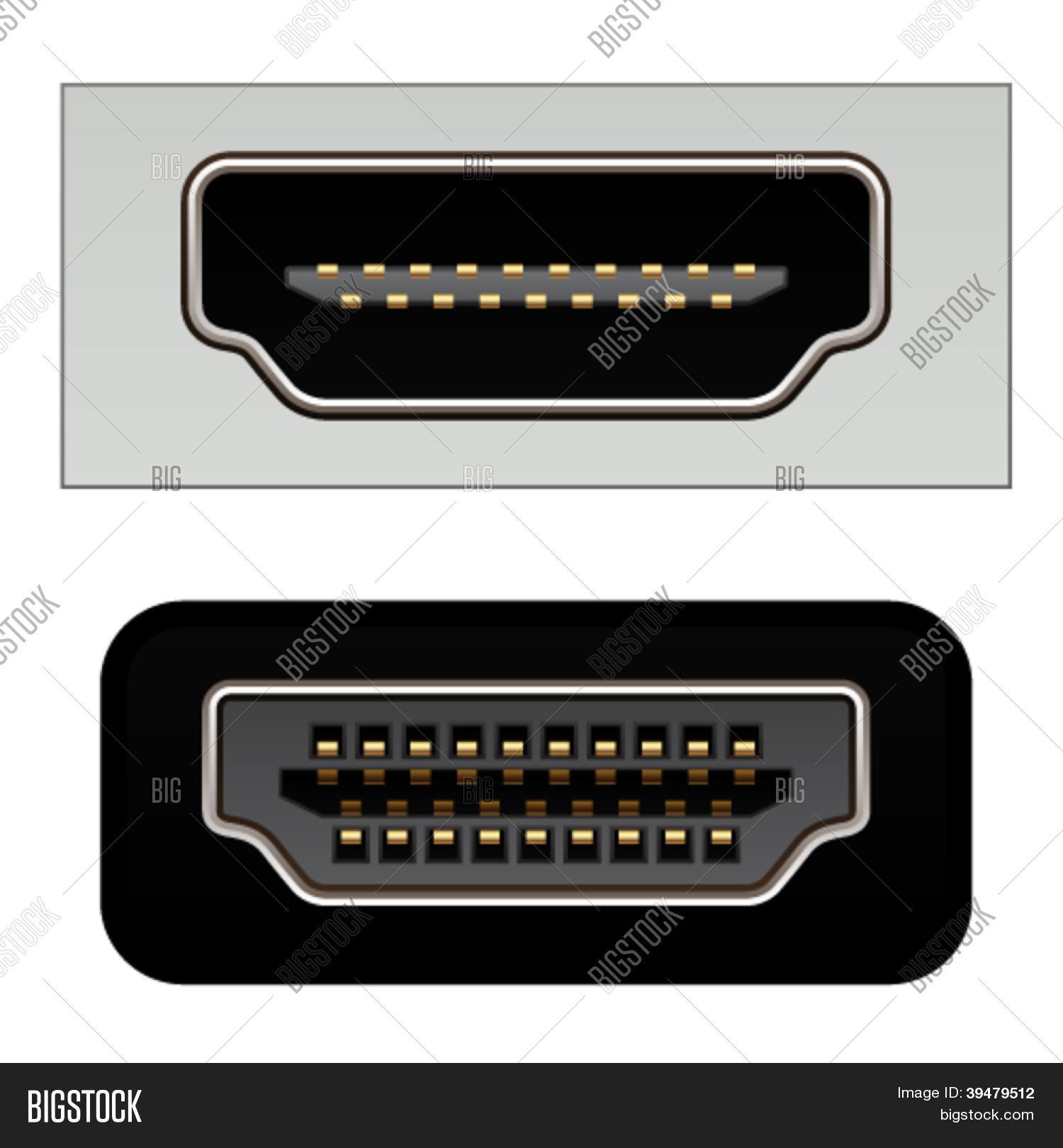Vector Hdmi Digital Photo Free Trial Bigstock Video Connectors