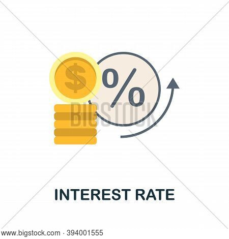 Interest Rate Icon. Simple Element From Economic Collection. Creative Interest Rate Icon For Web Des