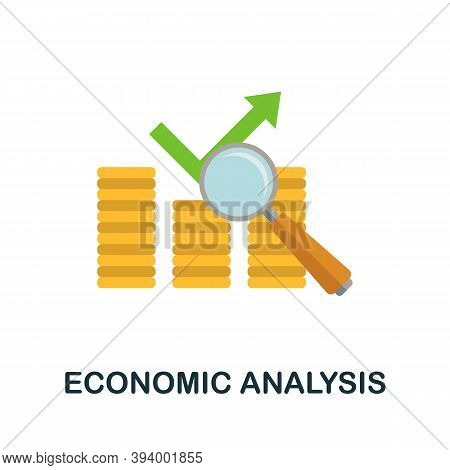 Economic Analysis Icon. Simple Element From Economic Collection. Creative Economic Analysis Icon For