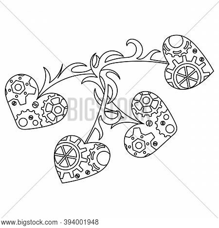 Steampunk Coloring Vector Photo Free Trial Bigstock