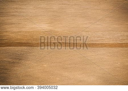 Cultivator-plowed Soil. Plowed Field In Spring Sunny Day. Flat View, Natural Agricultural Background