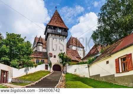 Bazna, Transylvania, Romania. Fortified Saxon Church Of Bazna.