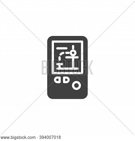 Handheld Video Game Vector Icon. Filled Flat Sign For Mobile Concept And Web Design. Retro Game Cons