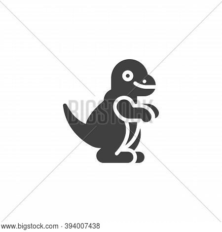 Dinosaur Toy Vector Icon. Filled Flat Sign For Mobile Concept And Web Design. T-rex Toy Dinosaur Gly