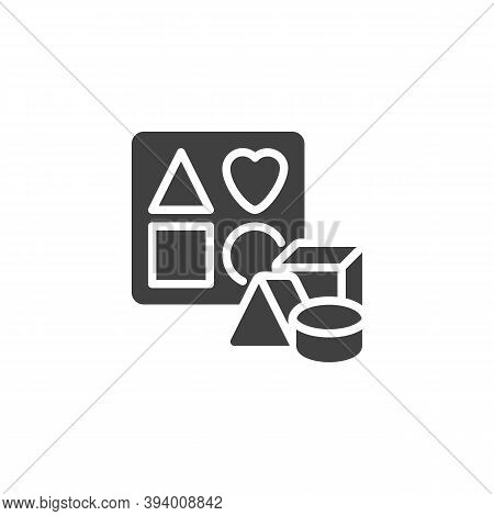 Sorter Puzzle Toy Vector Icon. Filled Flat Sign For Mobile Concept And Web Design. Sorter Toy Glyph