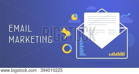 Email Marketing Concept. Inbound Information Dissemination, E-mail Advertising Campaign - Useful New