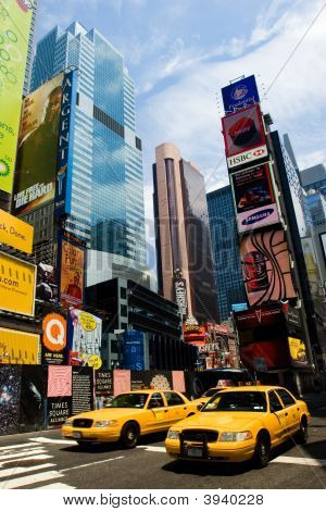 Taxi en Times Square