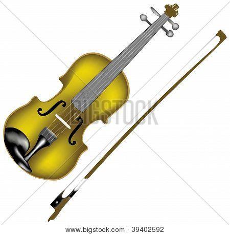 vector violin and bow