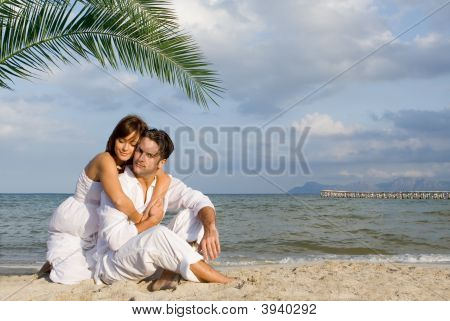 Loving Couple On Honeymoon Vacation