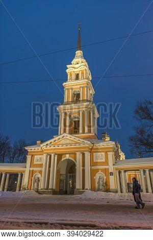 Russia, St. Petersburg 07,01,2019 Holy Cross Church Yamskaya Church - Orthodox Church In Honor Of Th