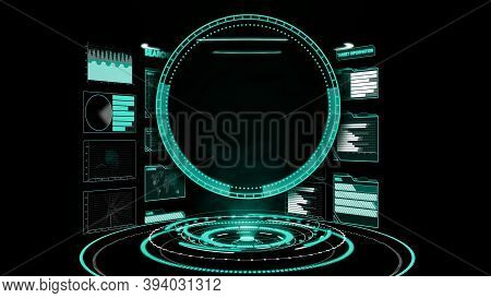 Futuristic User Interface Dashboard For Big Data Analytic In Information Chart . Hud Gui Text Number
