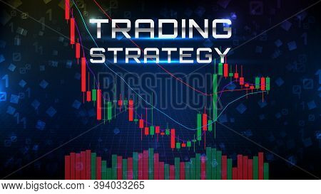 Abstract Background Of Trading Stock Market Ema Indicator Technical Analysis Graph With Stock Market