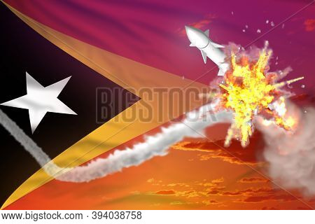 Strategic Rocket Destroyed In Air, Timor-leste Ballistic Missile Protection Concept - Missile Defens